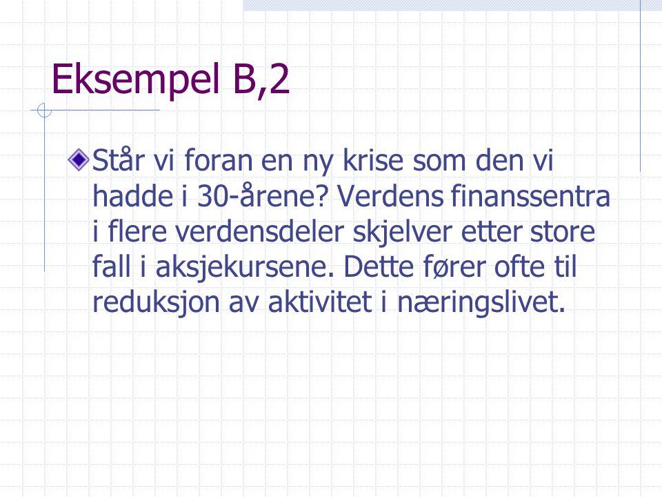 Eksempel B,2