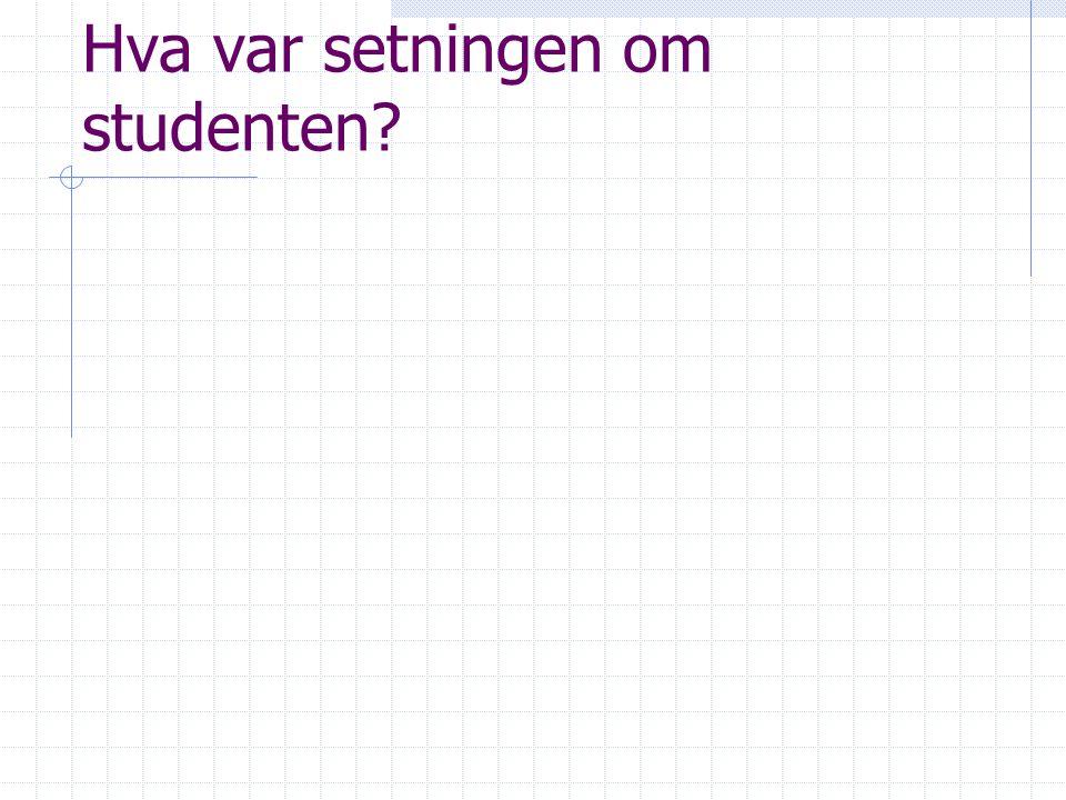 Hva var setningen om studenten
