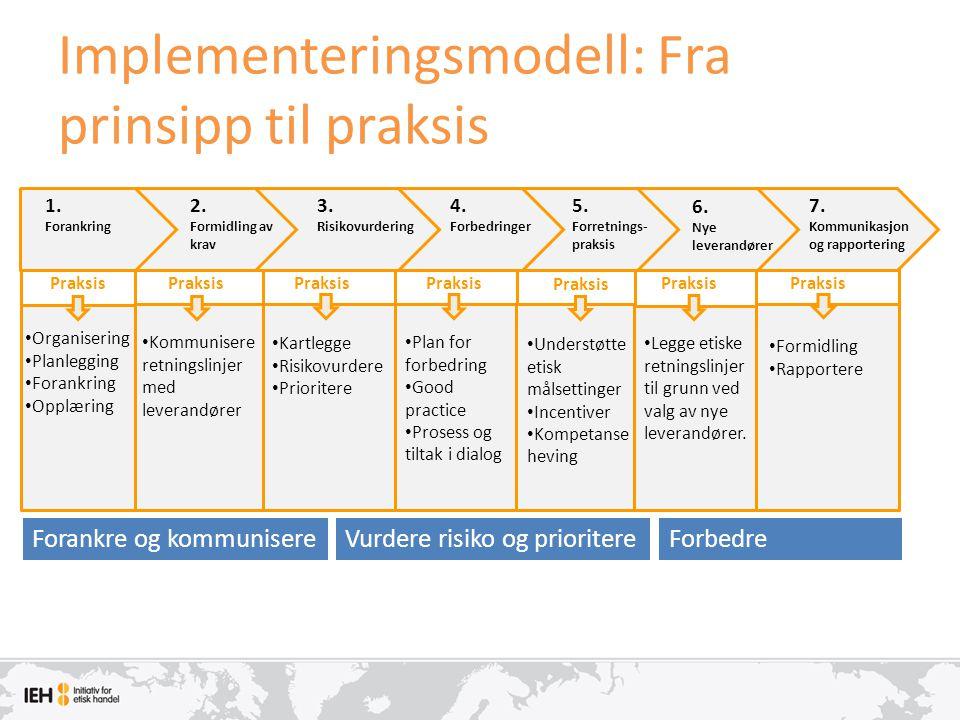Implementeringsmodell: Fra prinsipp til praksis