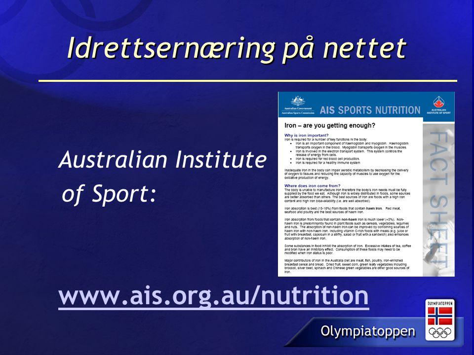 Idrettsernæring på nettet