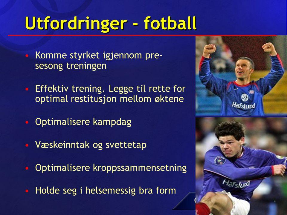 Utfordringer - fotball