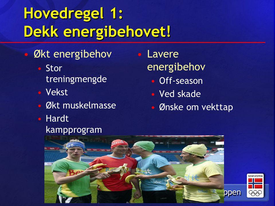 Hovedregel 1: Dekk energibehovet!