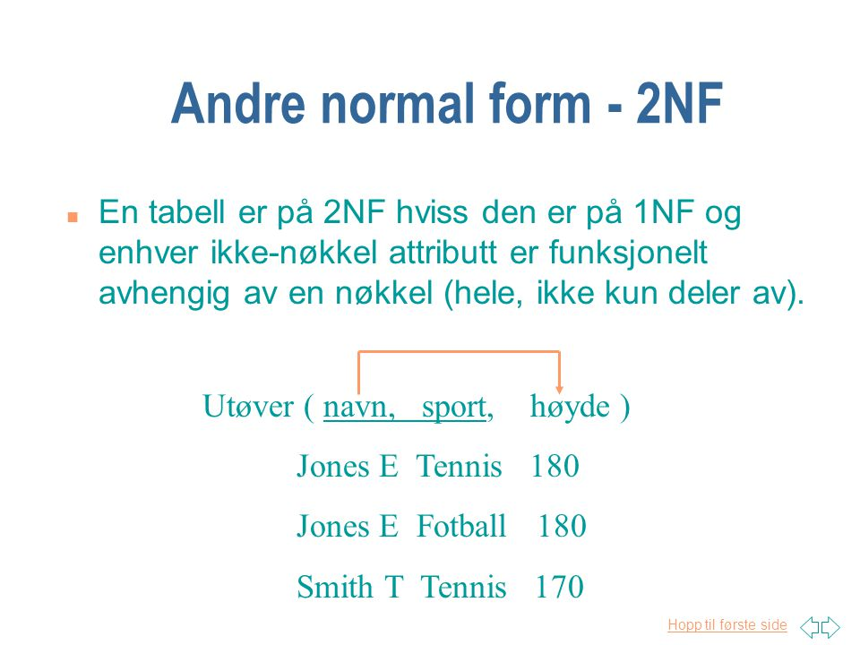 Andre normal form - 2NF