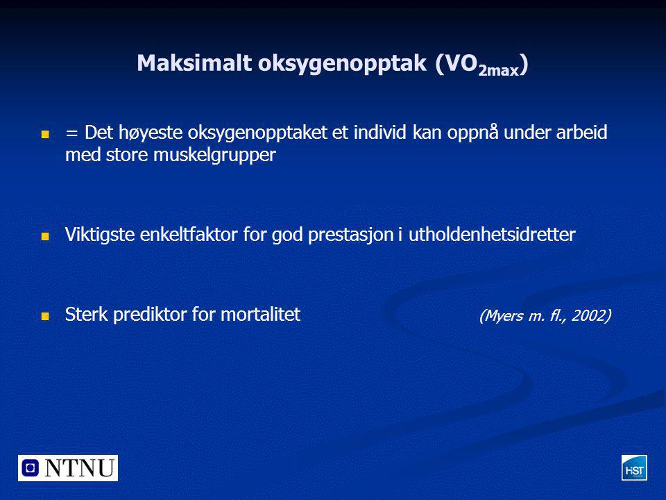 Maksimalt oksygenopptak (VO2max)