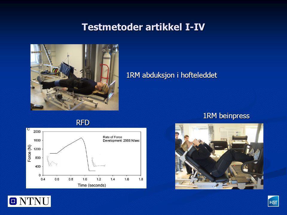 Testmetoder artikkel I-IV