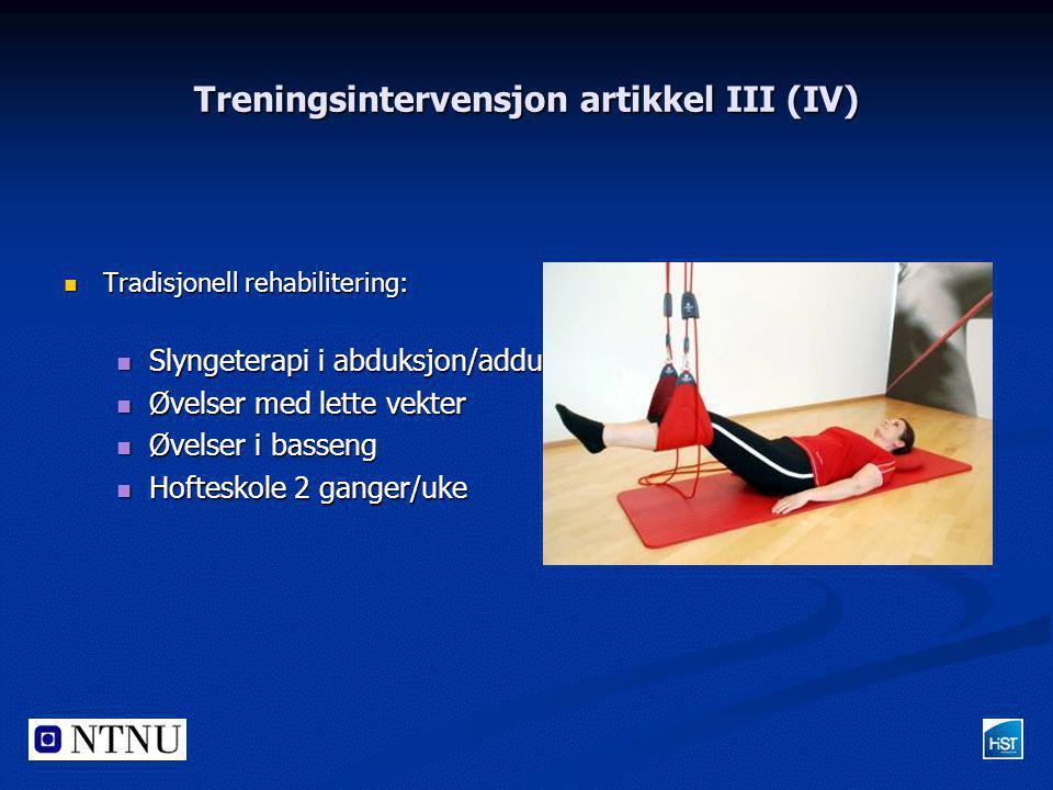 Treningsintervensjon artikkel III (IV)