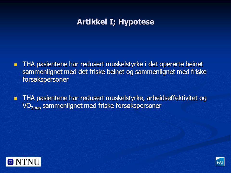 Artikkel I; Hypotese