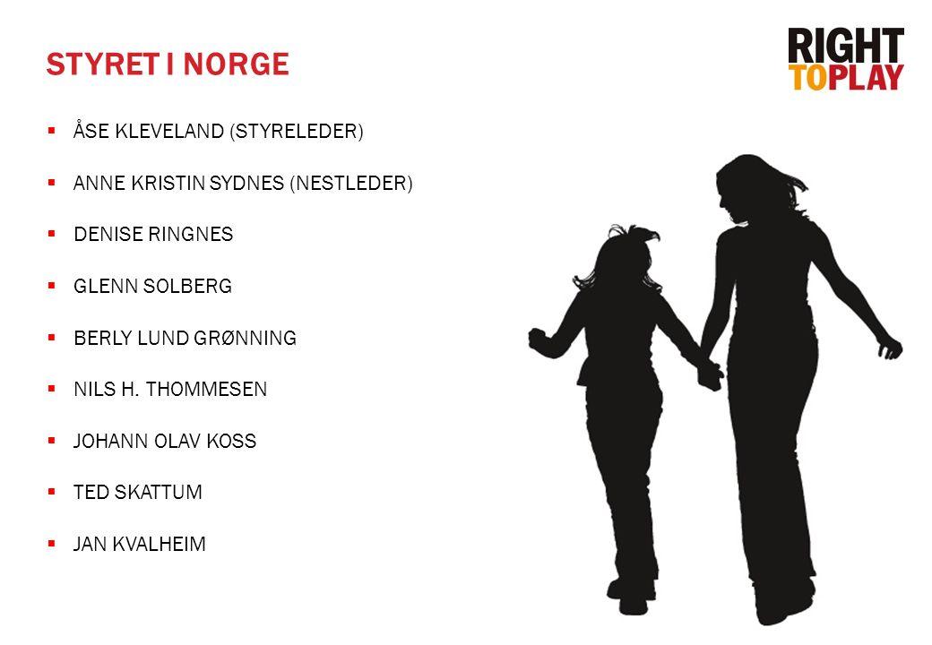 STYRET I NORGE ÅSE KLEVELAND (STYRELEDER)