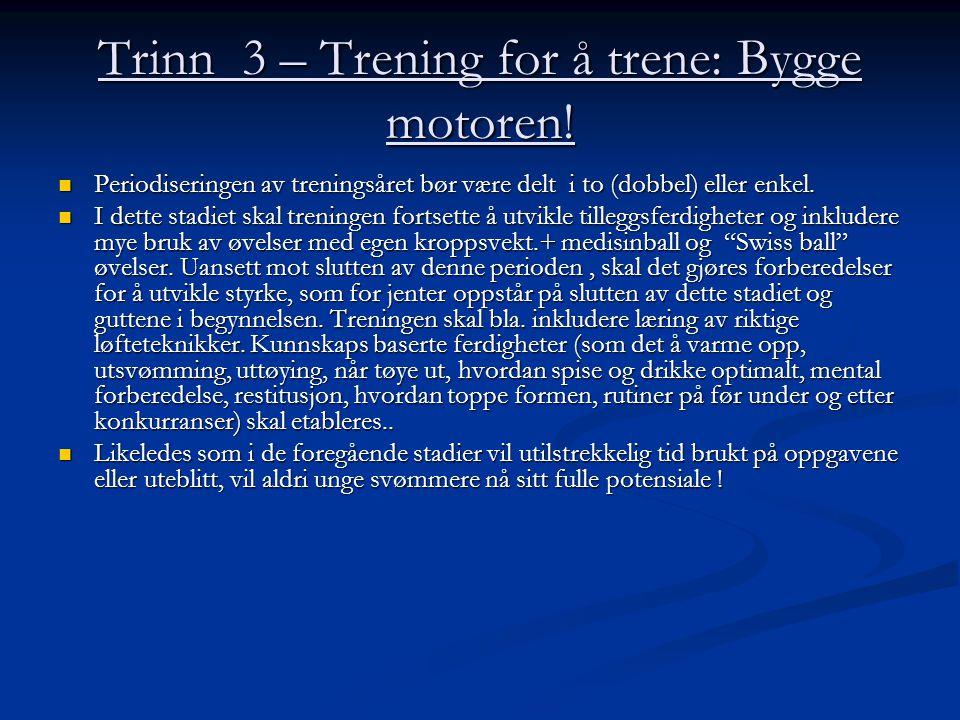 Trinn 3 – Trening for å trene: Bygge motoren!
