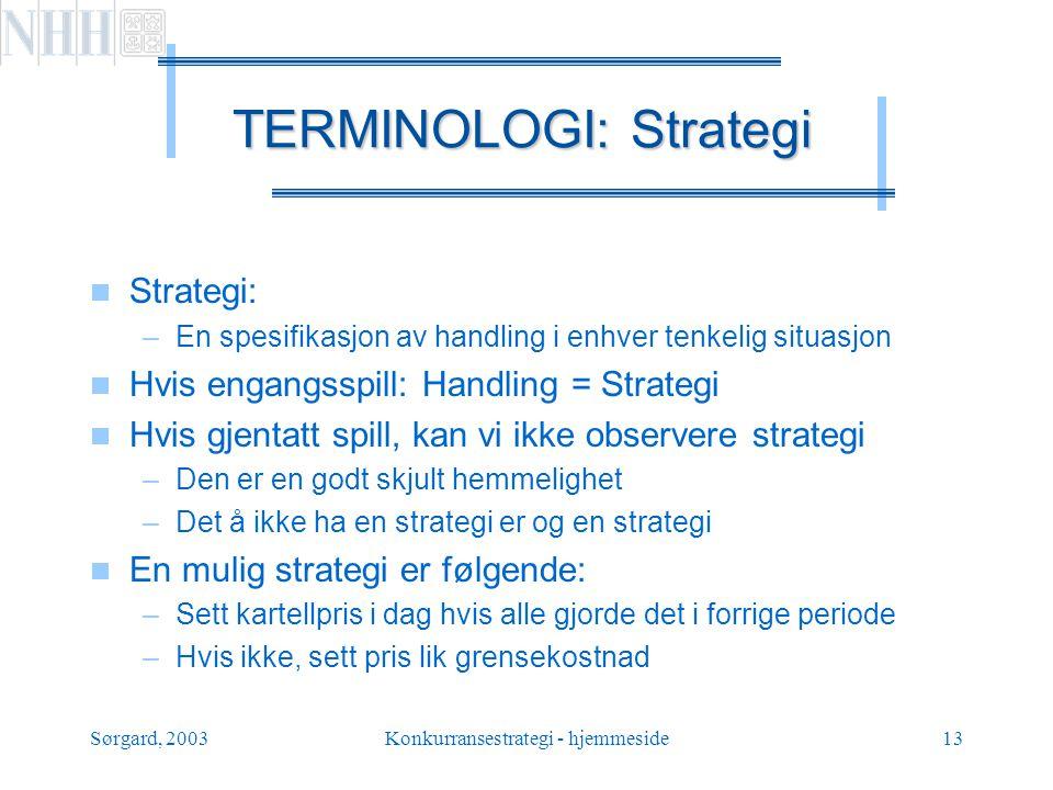 TERMINOLOGI: Strategi