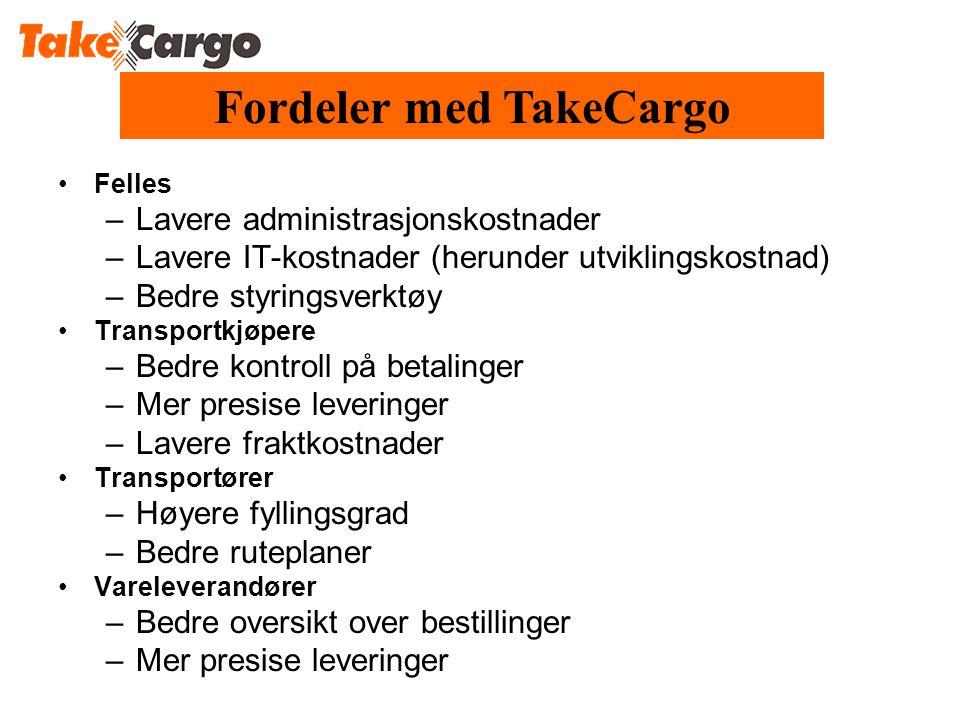 Fordeler med TakeCargo