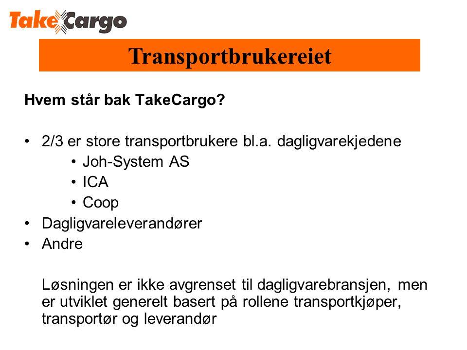 Transportbrukereiet Hvem står bak TakeCargo