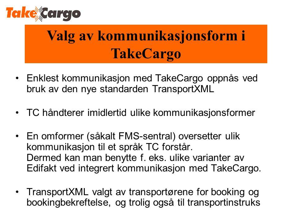 Valg av kommunikasjonsform i TakeCargo