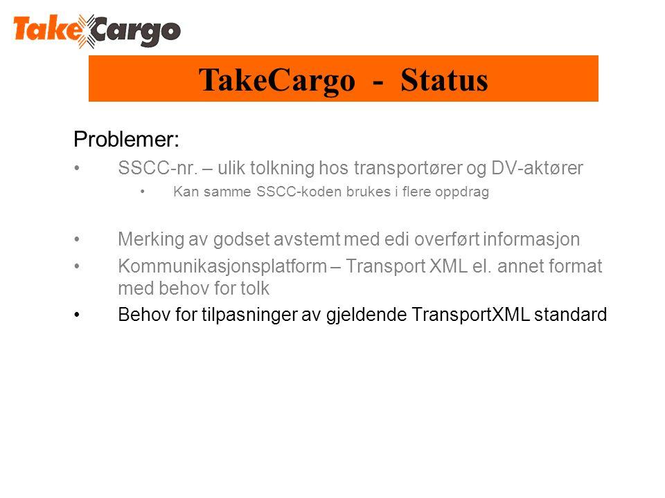 TakeCargo - Status Problemer:
