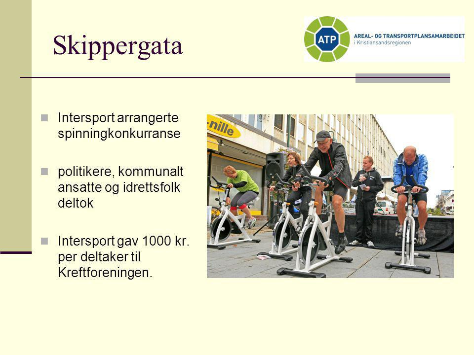 Skippergata Intersport arrangerte spinningkonkurranse