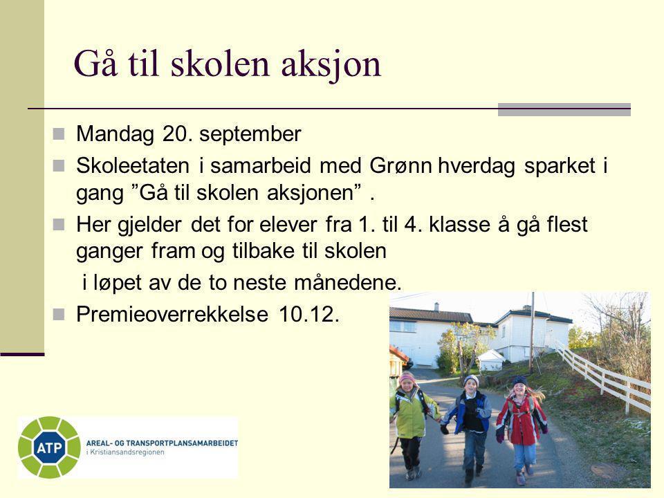 Gå til skolen aksjon Mandag 20. september