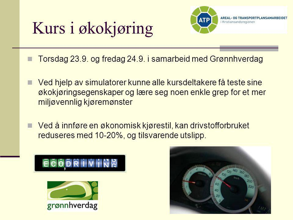 Kurs i økokjøring Torsdag 23.9. og fredag 24.9. i samarbeid med Grønnhverdag.