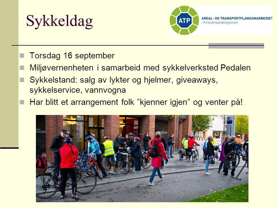Sykkeldag Torsdag 16 september