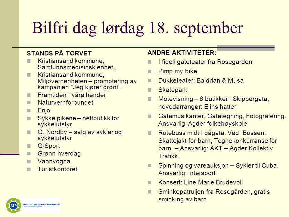 Bilfri dag lørdag 18. september