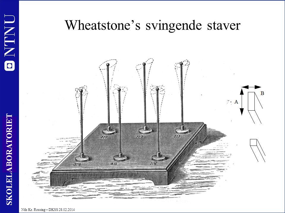 Wheatstone's svingende staver