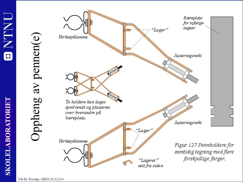 Oppheng av pennen(e)