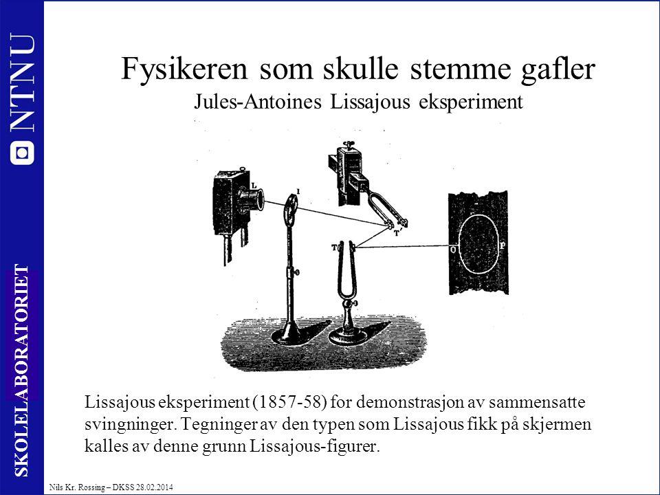 Fysikeren som skulle stemme gafler Jules-Antoines Lissajous eksperiment