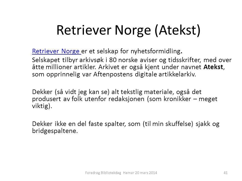 Retriever Norge (Atekst)