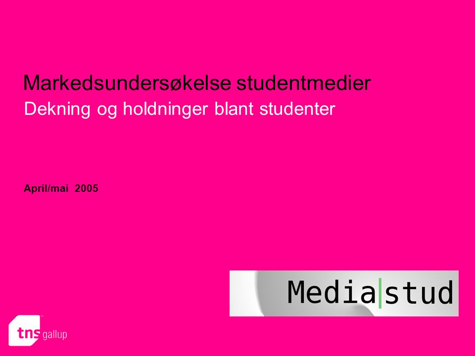 Markedsundersøkelse studentmedier