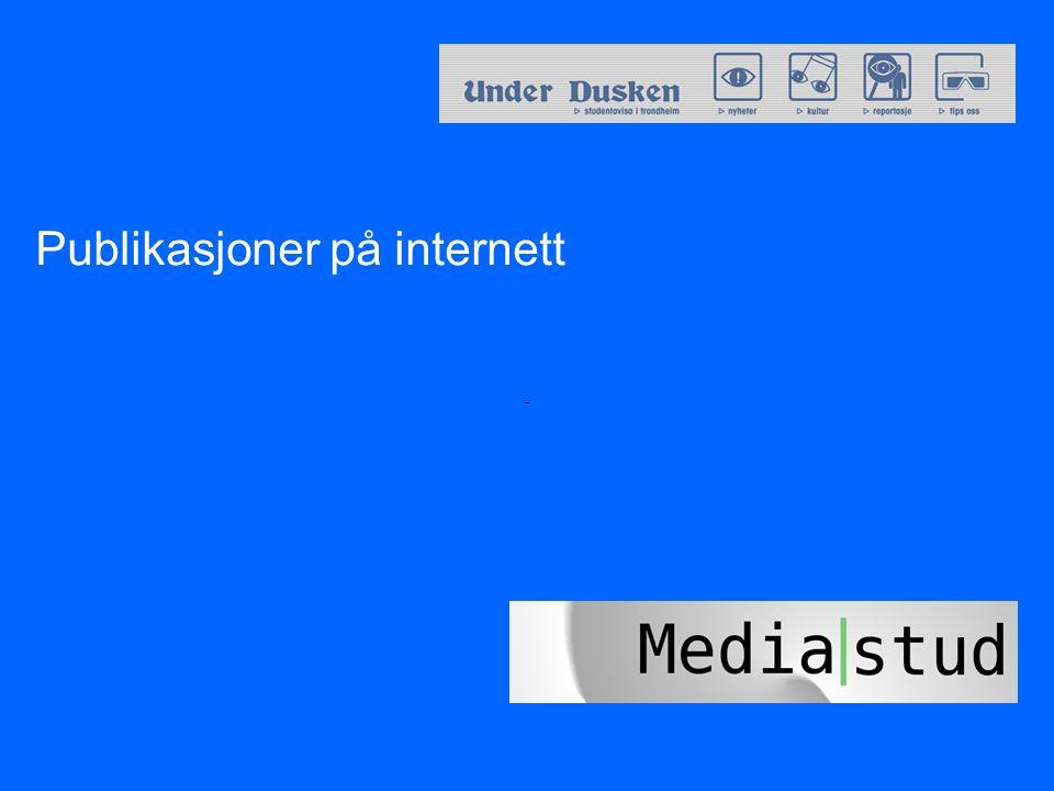 Publikasjoner på internett