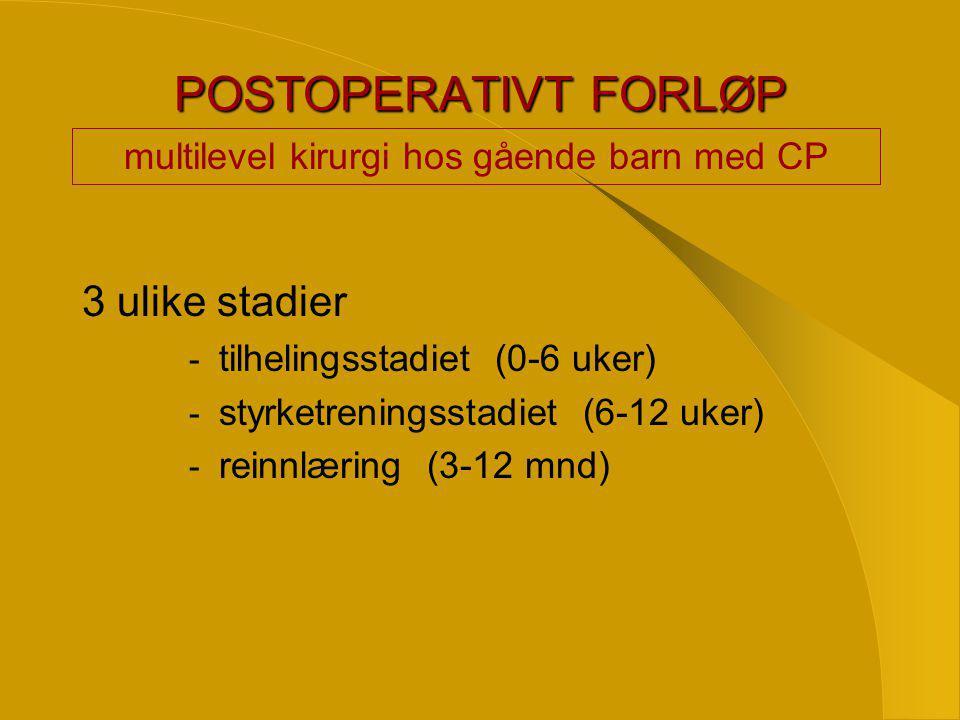 multilevel kirurgi hos gående barn med CP