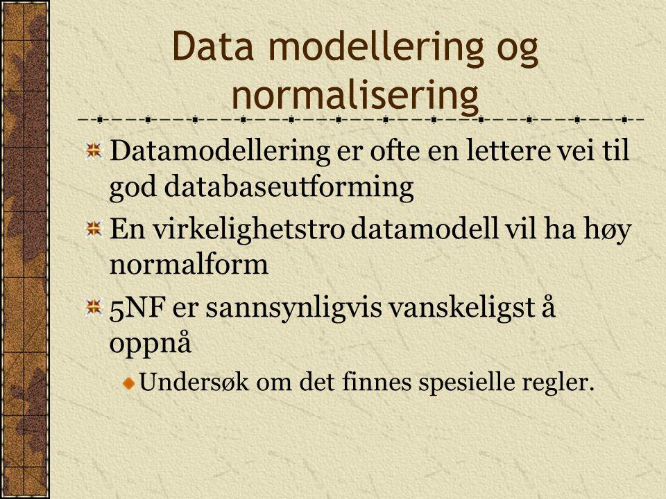 Data modellering og normalisering