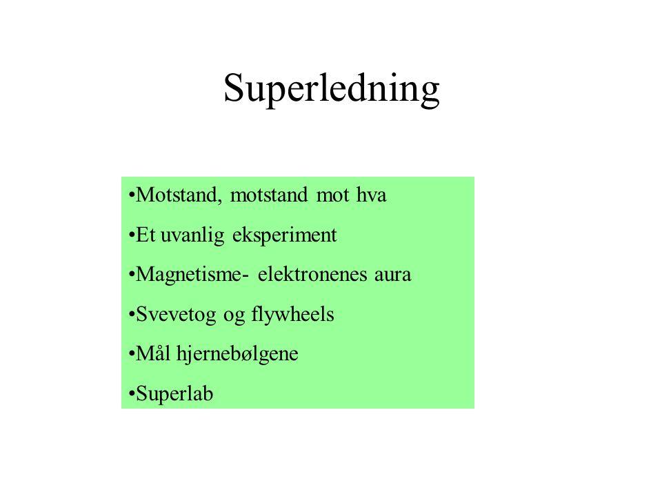Superledning Motstand, motstand mot hva Et uvanlig eksperiment