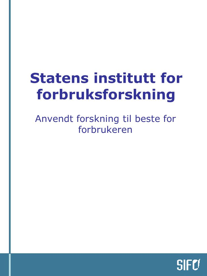 Statens institutt for forbruksforskning