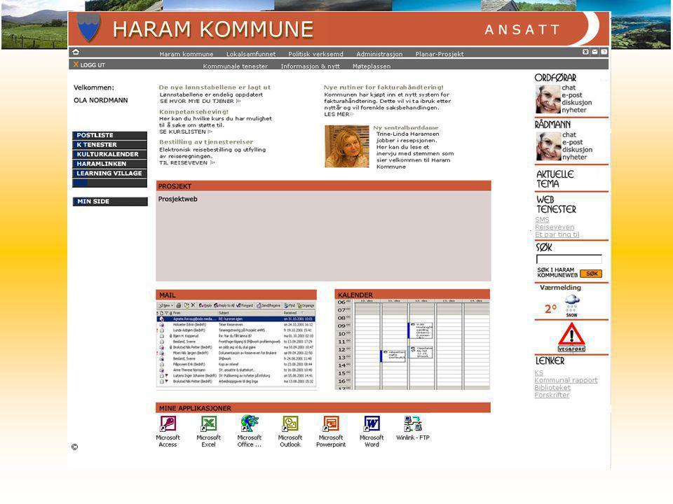 Design, Ansatt Det er valgt å skille sidene til de ulike rollene ved å gi de ulike farger.