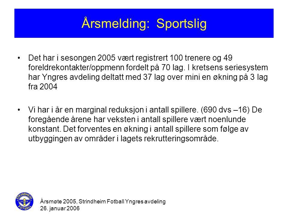 Årsmelding: Sportslig