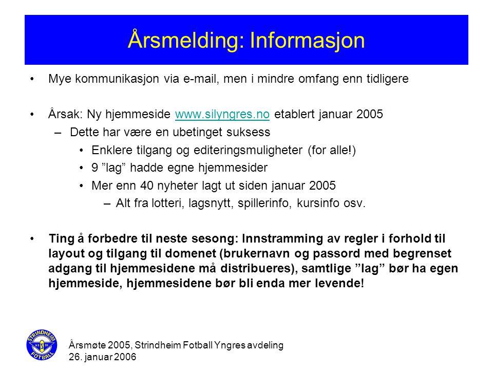 Årsmelding: Informasjon