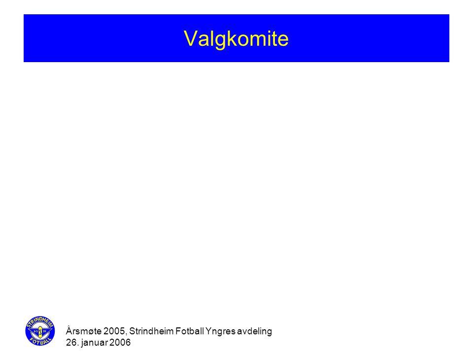Valgkomite Årsmøte 2005, Strindheim Fotball Yngres avdeling