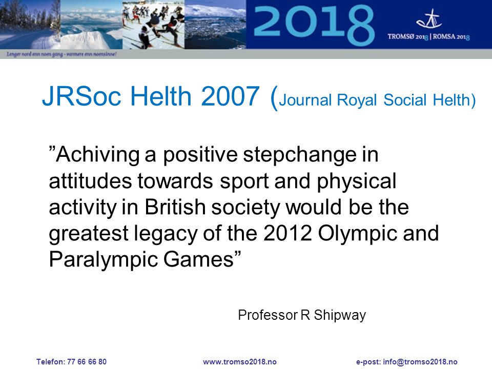 JRSoc Helth 2007 (Journal Royal Social Helth)
