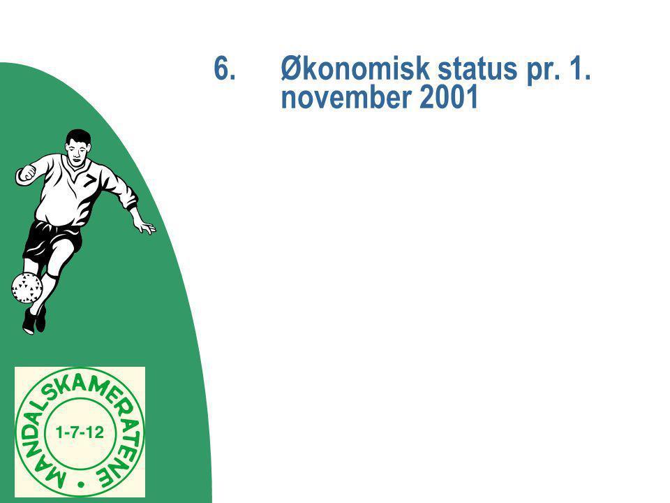 6. Økonomisk status pr. 1. november 2001