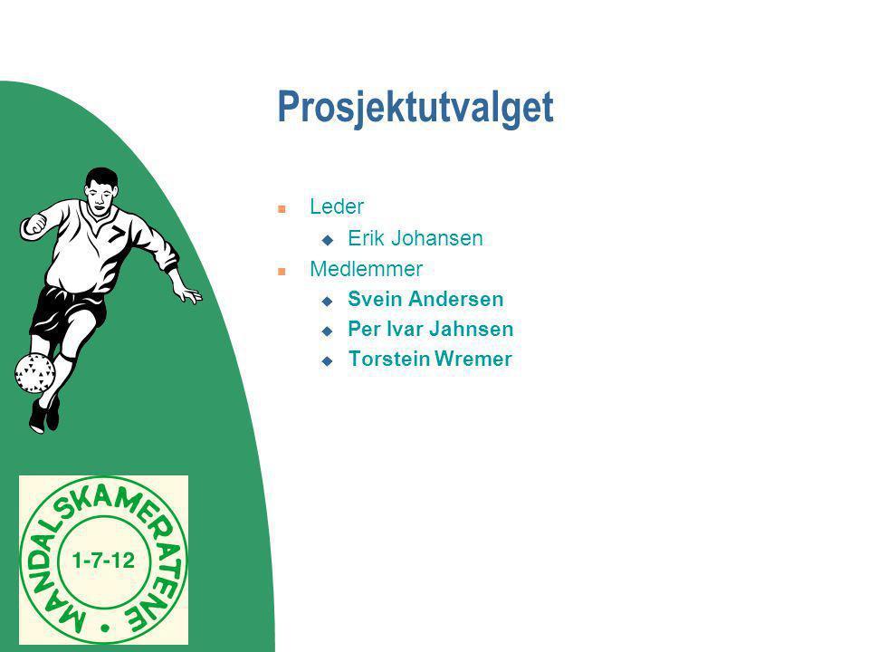 Prosjektutvalget Leder Erik Johansen Medlemmer Svein Andersen