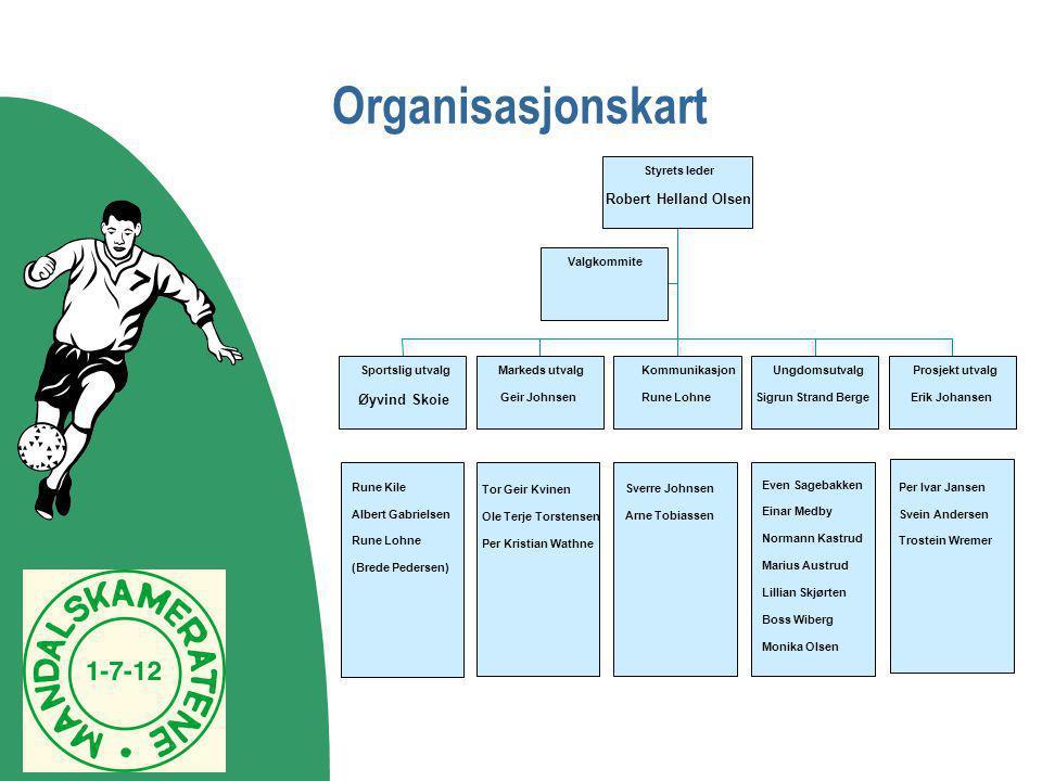 Organisasjonskart Robert Helland Olsen Øyvind Skoie Sverre Johnsen