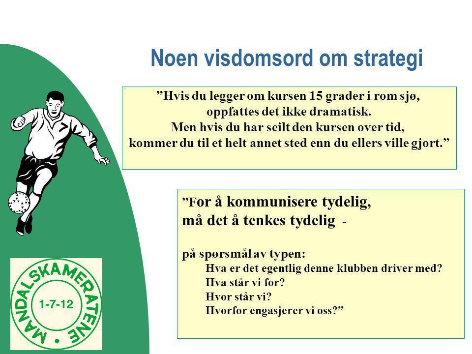 Noen visdomsord om strategi