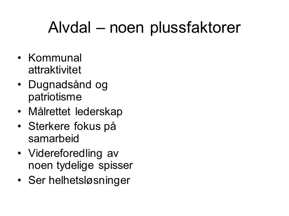 Alvdal – noen plussfaktorer