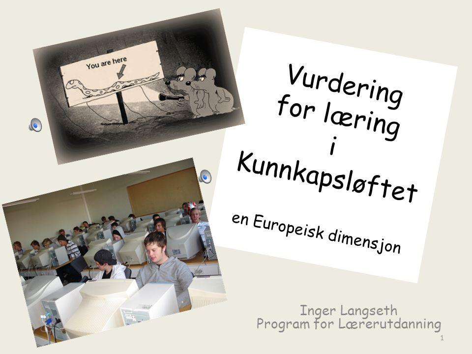 Vurdering for læring i Kunnkapsløftet en Europeisk dimensjon