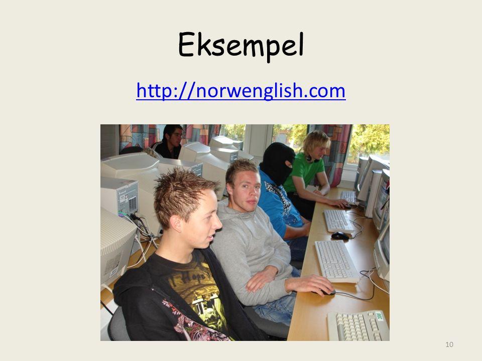 Eksempel http://norwenglish.com