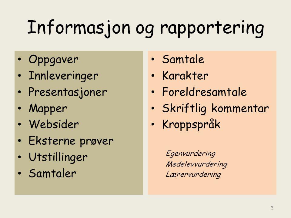 Informasjon og rapportering