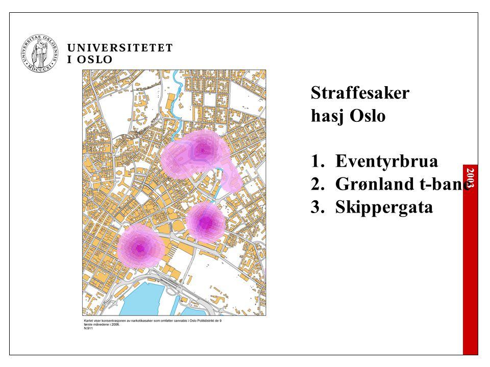 Straffesaker hasj Oslo Eventyrbrua Grønland t-bane Skippergata