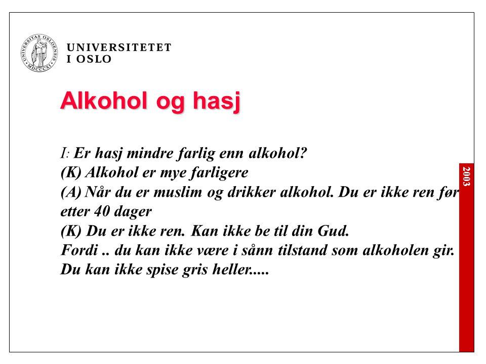 Alkohol og hasj I: Er hasj mindre farlig enn alkohol