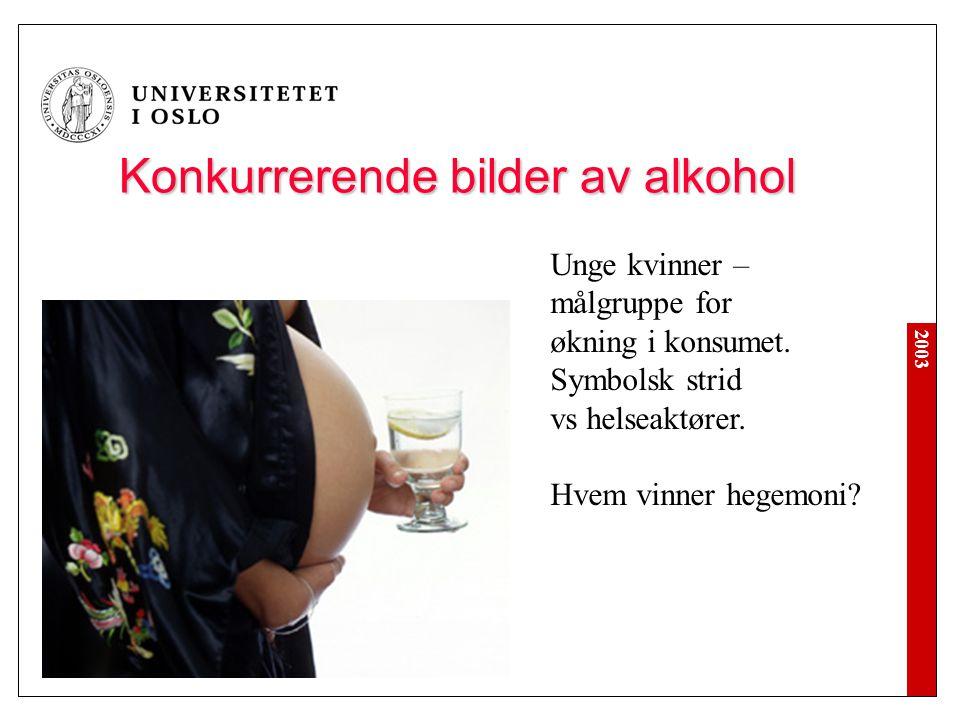 Konkurrerende bilder av alkohol