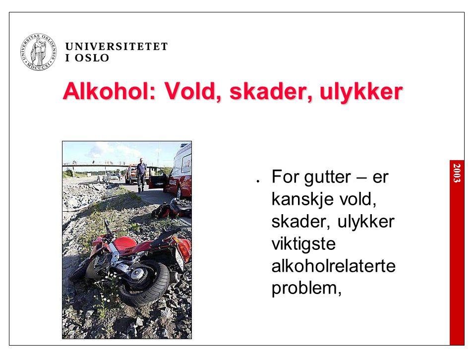 Alkohol: Vold, skader, ulykker